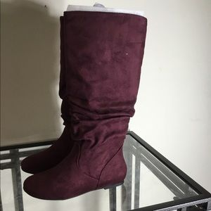 Cambridge Select Round Toe Slouchy High Flat Boot